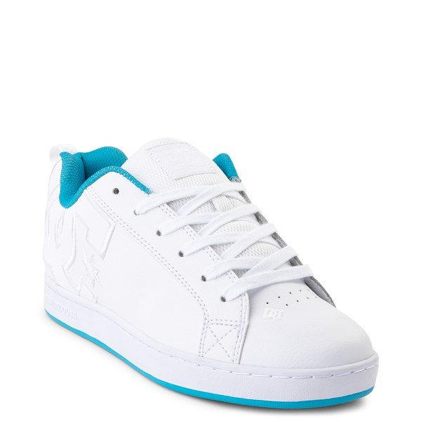 alternate view Womens DC Court Graffik Skate Shoe - White / BlueALT1
