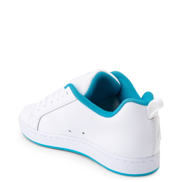 alternate view Womens DC Court Graffik Skate Shoe - White / BlueALT2