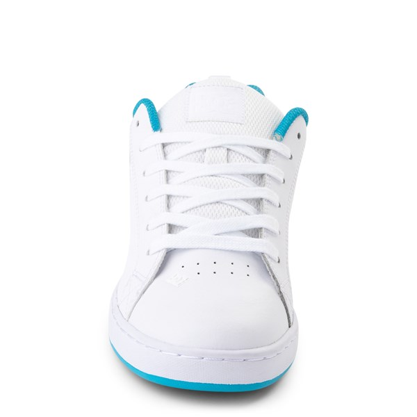 alternate view Womens DC Court Graffik Skate Shoe - White / BlueALT4