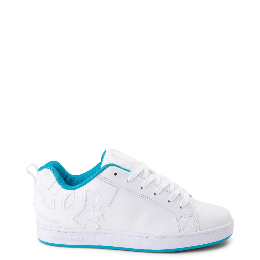 Womens DC Court Graffik Skate Shoe - White / Blue