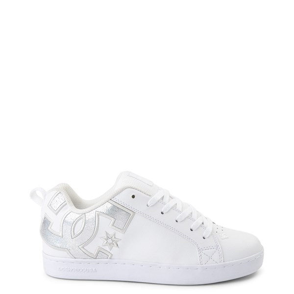 Womens DC Court Graffik Skate Shoe - White / Silver