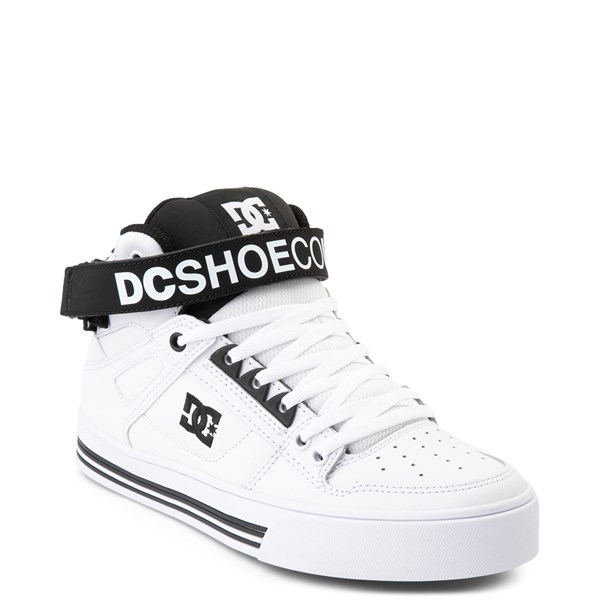 alternate view Womens DC Pure Hi V Skate Shoe - White / BlackALT1
