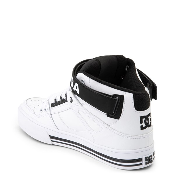 alternate view Womens DC Pure Hi V Skate Shoe - White / BlackALT2