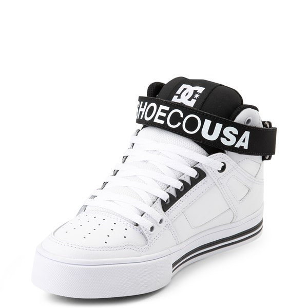 alternate view Womens DC Pure Hi V Skate Shoe - White / BlackALT3