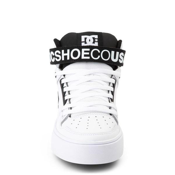 alternate view Womens DC Pure Hi V Skate Shoe - White / BlackALT4