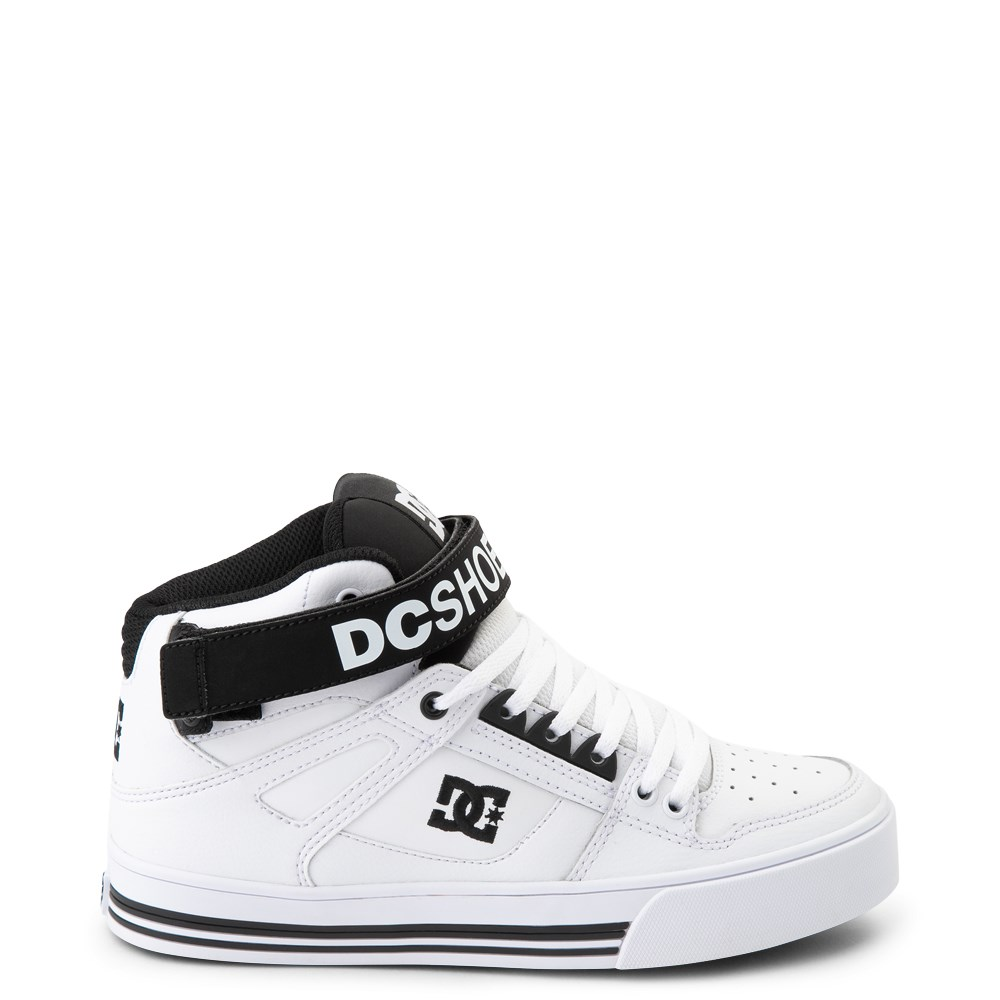 Womens DC Pure Hi V Skate Shoe - White / Black