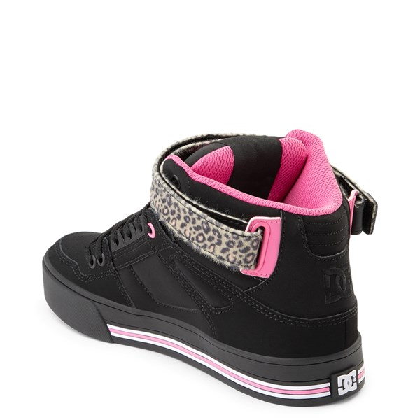 alternate view Womens DC Pure Hi V Skate Shoe - Pink / LeopardALT2