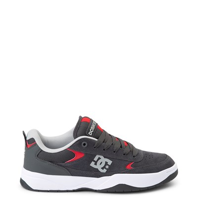 Main view of Mens DC Penza Skate Shoe - Gray / Red