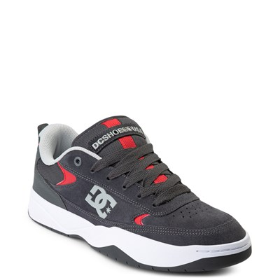 Alternate view of Mens DC Penza Skate Shoe - Gray / Red