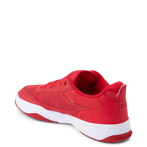 alternate view Mens DC Penza Skate Shoe - Red / WhiteALT2
