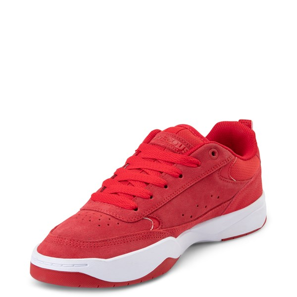 alternate view Mens DC Penza Skate Shoe - Red / WhiteALT3
