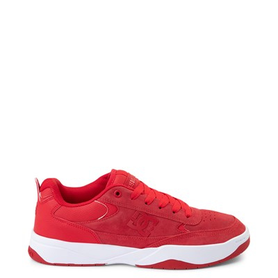 Main view of Mens DC Penza Skate Shoe - Red / White