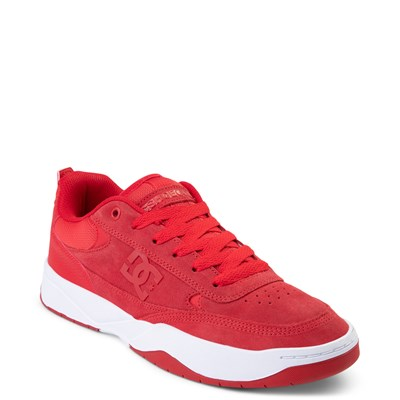 Alternate view of Mens DC Penza Skate Shoe - Red / White