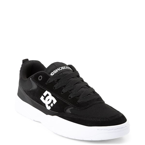 alternate view Mens DC Penza Skate Shoe - Black / WhiteALT1