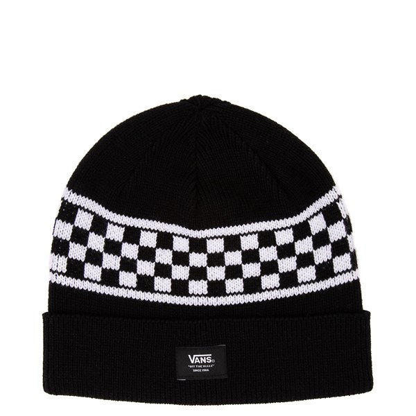 Main view of Vans Checkerboard Stripe Beanie - Black / White