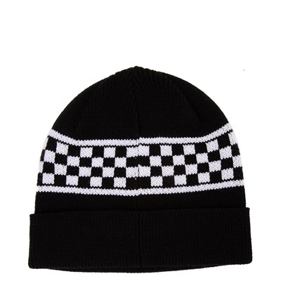 Alternate view of Vans Checkerboard Stripe Beanie - Black / White