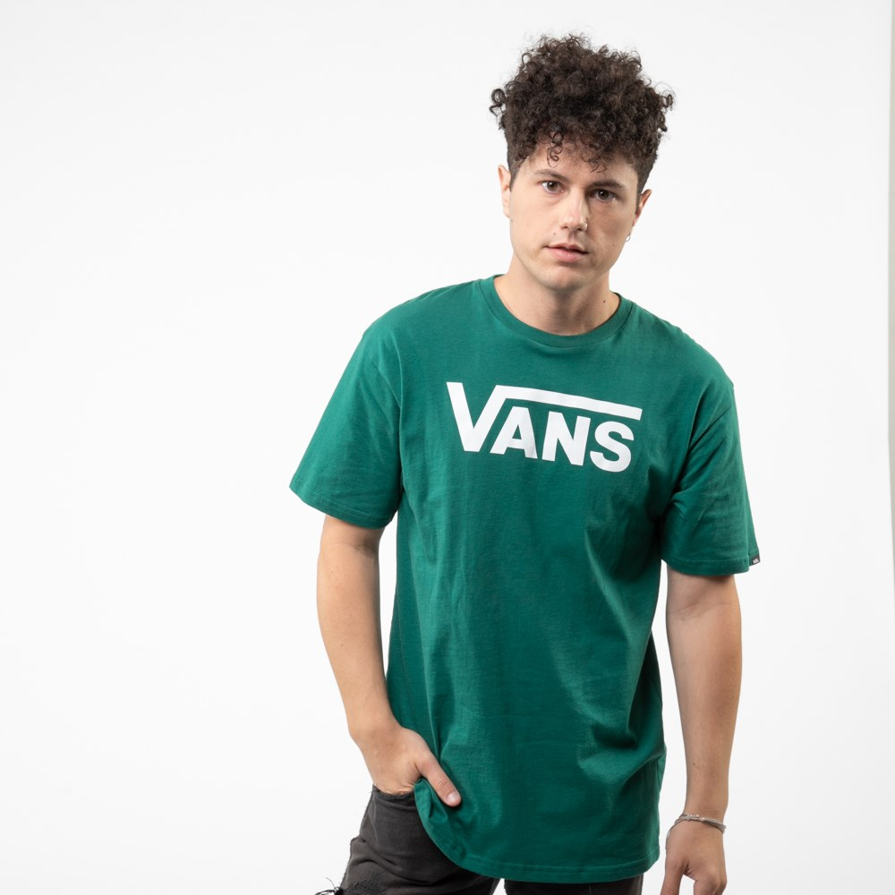 Mens Vans Classic Drop V Tee - Evergreen