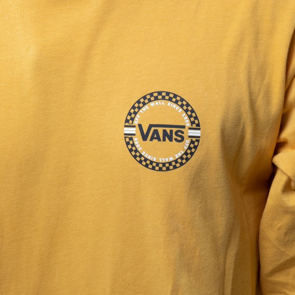 alternate view Mens Vans Circle Check Long Sleeve Tee - Mineral YellowALT4