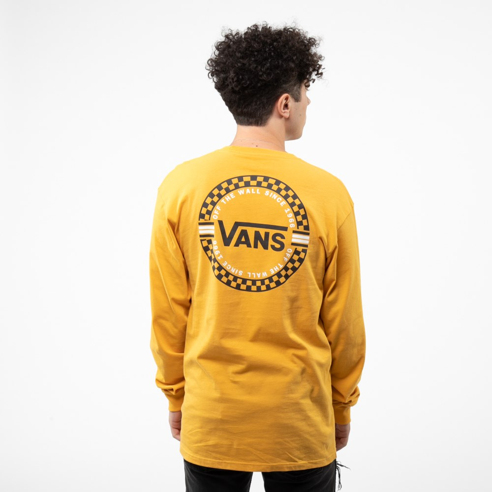 Mens Vans Circle Check Long Sleeve Tee - Mineral Yellow