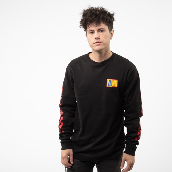 Alternate view of Mens Vans OTW Rally Color-Block Long Sleeve Tee - Black / Multi