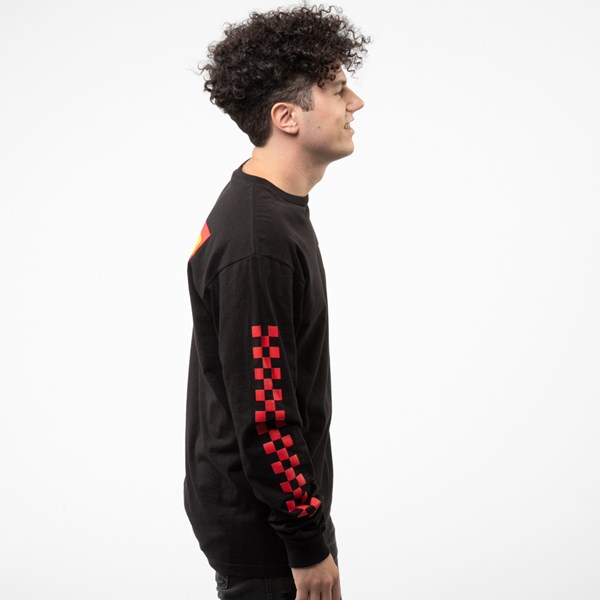 alternate view Mens Vans OTW Rally Color-Block Long Sleeve Tee - Black / MultiALT3