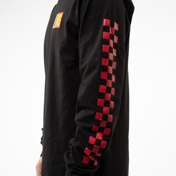 alternate view Mens Vans OTW Rally Color-Block Long Sleeve Tee - Black / MultiALT4