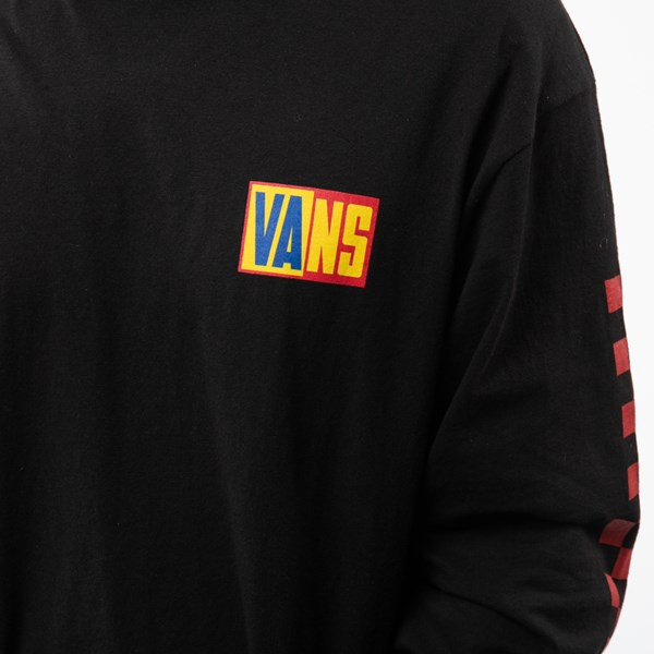 alternate view Mens Vans OTW Rally Color-Block Long Sleeve Tee - Black / MultiALT6