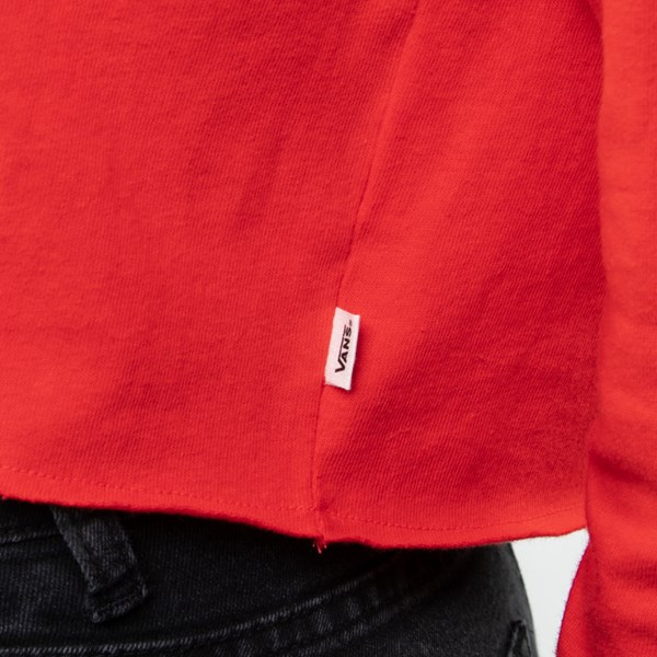 alternate view Womens Vans Outline Cropped Long Sleeve Tee - Racing RedALT4