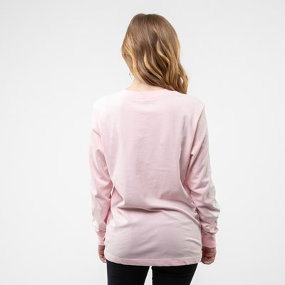 Alternate view of Womens Vans Funnier Check Long Sleeve Boyfriend Tee - Blushing Pink