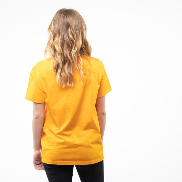alternate view Womens Vans Drop V Boyfriend Tee - Zinnia Yellow / LeopardALT1