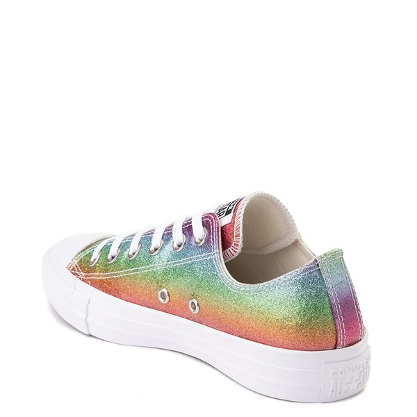 alternate view Converse Chuck Taylor All Star Lo Rainbow Glitter Sneaker - MultiALT1