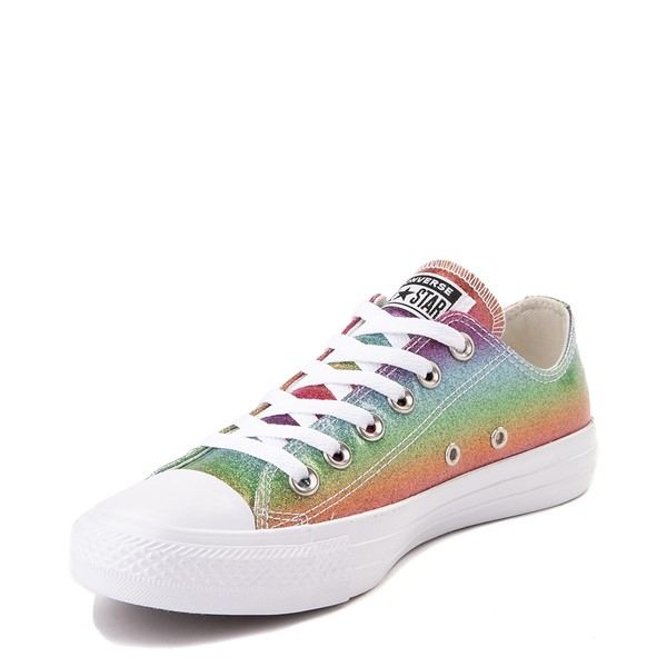 alternate view Converse Chuck Taylor All Star Lo Rainbow Glitter SneakerALT2