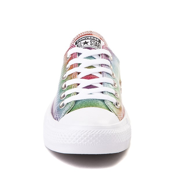alternate view Converse Chuck Taylor All Star Lo Rainbow Glitter Sneaker - MultiALT4