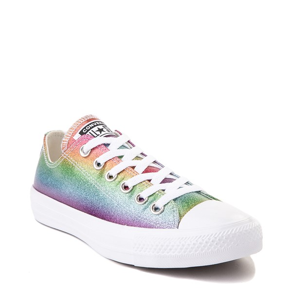 alternate view Converse Chuck Taylor All Star Lo Rainbow Glitter Sneaker - MultiALT5