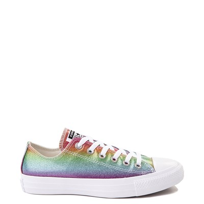 Main view of Converse Chuck Taylor All Star Lo Rainbow Glitter Sneaker
