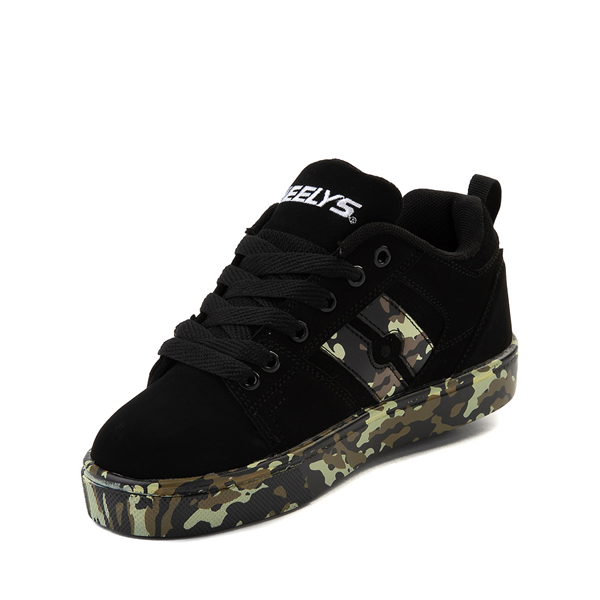 alternate view Heelys Racer Skate Shoe - Little Kid / Big Kid - Black / CamoALT2