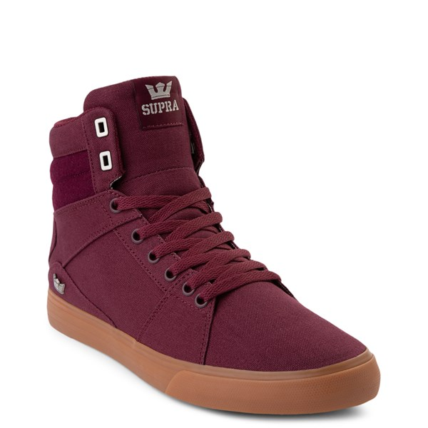 alternate view Mens Supra Aluminum Hi Skate Shoe - WineALT1