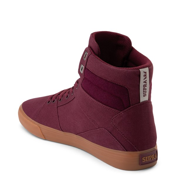 alternate view Mens Supra Aluminum Hi Skate Shoe - WineALT2