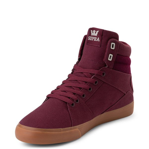 alternate view Mens Supra Aluminum Hi Skate Shoe - WineALT3