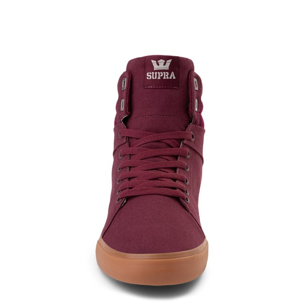 alternate view Mens Supra Aluminum Hi Skate Shoe - WineALT4