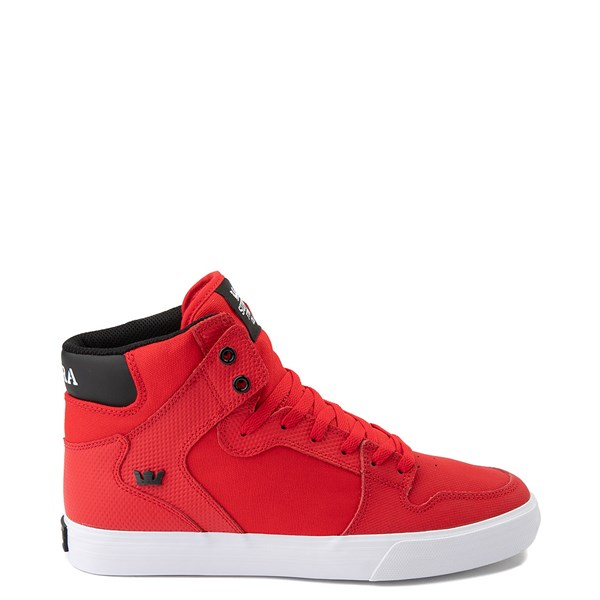 Mens Supra Vaider Hi Skate Shoe - Red / Black
