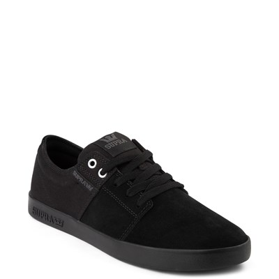 Alternate view of Mens Supra Stacks II Skate Shoe - Black Monochrome