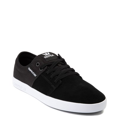 Alternate view of Mens Supra Stacks II Skate Shoe - Black / Gray
