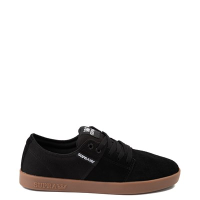 Main view of Mens Supra Stacks II Skate Shoe - Black / Gum