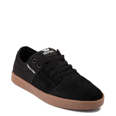 Alternate view of Mens Supra Stacks II Skate Shoe - Black / Gum