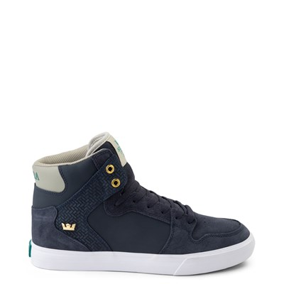 Main view of Mens Supra Vaider Hi Skate Shoe - Navy / Stone