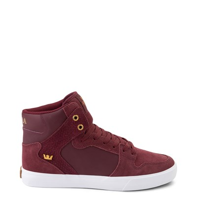 Main view of Mens Supra Vaider Hi Skate Shoe - Wine