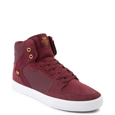Alternate view of Mens Supra Vaider Hi Skate Shoe - Wine