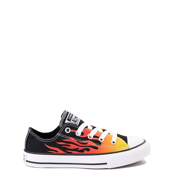 Converse Chuck Taylor All Star Lo Flames Sneaker - Little Kid - Black