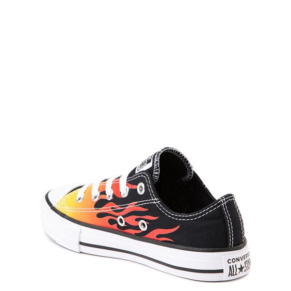 alternate view Converse Chuck Taylor All Star Lo Flames Sneaker - Little Kid - BlackALT1